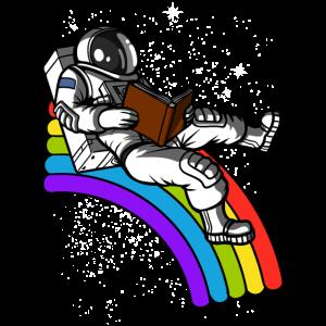 Weltraumastronaut Buch lesen Literatur Nerd