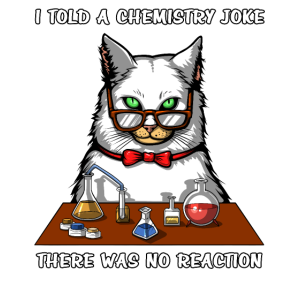 Cat Chemistry Teacher Joke Keine Reaktion Lustiger Witz