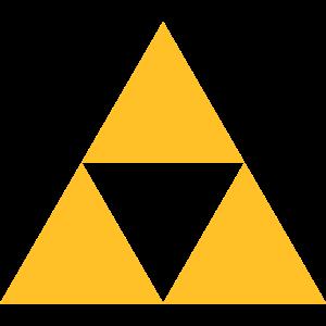 Triforce Magisches Symbol Sierpinski Dreieck