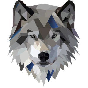 Wolf Low Poly Art