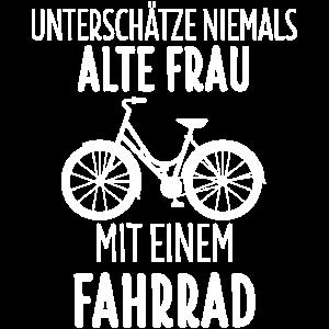 Fahrrad Radfahren Radfahrer Alte Frau Geschenk