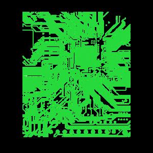 Platine Motherboard Informatiker Admin Herz