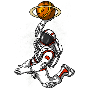 Basketball Astronaut Space Cosmic Planet