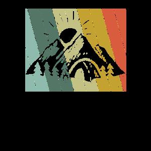 Retro Camping Berge Wandern Camper