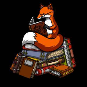Nettes Fox-Buch-Lesetier