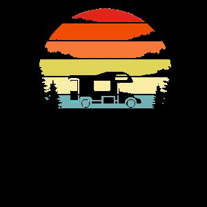 Retro Camping Shirt Vintage Wohnmobil Shirt