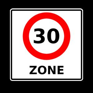30er Zone geburtstags - Geschenk