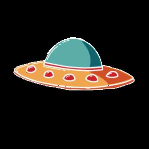 Alien Ufo T-Shirts Raumschiff Geschenkidee