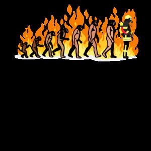 EVOLUTION Feuerwehr Feuerwehrmann Fire Geschenke