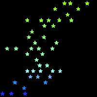 Sterne in blau grün Tönen Geschenkidee