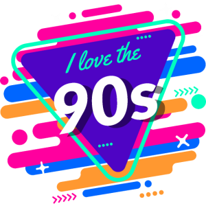 I Love The 90s Buntes 90er Jahre Design