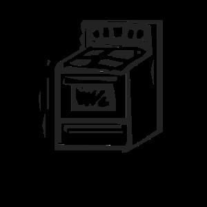 Herd Ofen Küche Kochen