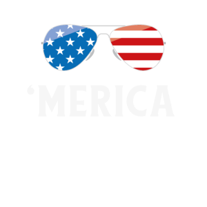 Kinder Amerika Shirt, Merica Sonnenbrille 4. Juli