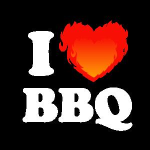 I love BBQ Grillen BBQ Geschenk Geschenkidee