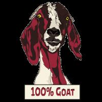 100% Goat cartoon goat whisperer