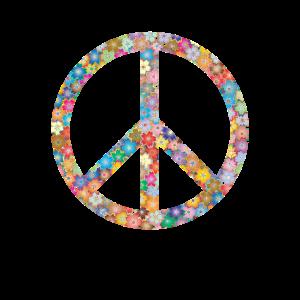 Peace 60er Jahre Peacezeichen Blume Hippie Vintage