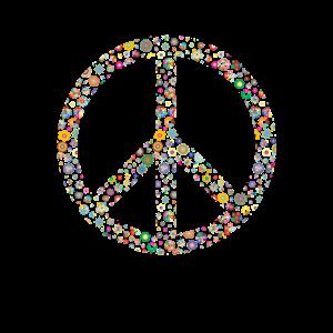 Flower Power Peacezeichen 60er 70er Jahre Retro