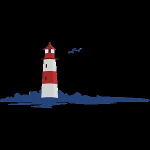 maritime Landschaft mit Leuchtturm