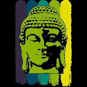 Buddha Kopf Grün