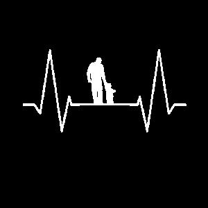 Vater und Sohn - EKG Herzschlag