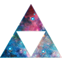 Dreieck Triforce Sierpinski Fraktal Galaxy Space