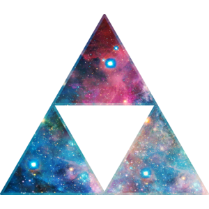 Dreieck Triforce Sierpinski Fraktal Galaxy Space