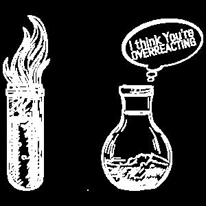 Reaktion Kolben Chemie Spruch Geschenk
