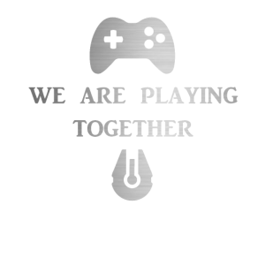 We are Playing Together in Silver Family Friends