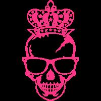 Schädel König gekrönt Kopf Gesicht Logo