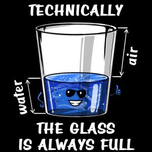 Wissenschaftstechnisch ist das Glas immer voll