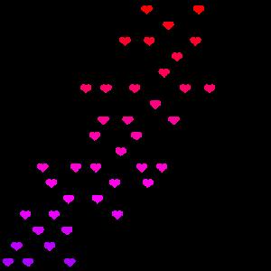 Bunte Herzen rot pink lila Geschenkidee