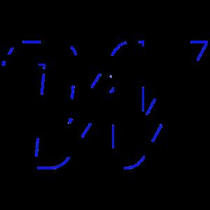Konturen -Blau
