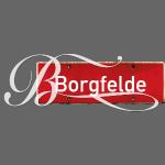 Borgfelde Ortsschild mit Schnörkel-B