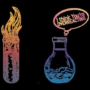 Chemie Kolben Reaktion Labor Spruch Geschenk