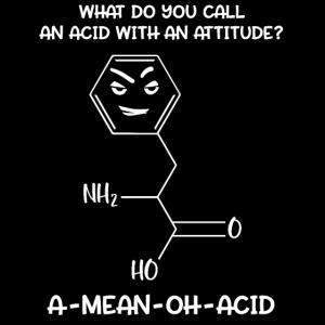 Wissenschaft Chemie Säureeinstellung A-Mean-Oh-Acid