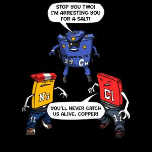 Chemie-Wissenschafts-Kupfer-lustiger Salz-Witz