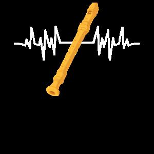 Flötist Recorder Flötenspieler Flötist Heartbeat