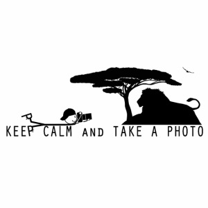 KEEP CALM AND TAKE A PHOTO Fotograf liegend