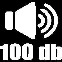 100 db Lautstärke Musik weiß