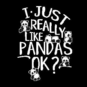 Ich mag einfach Kawaii Baby Panda Bär Zeichnung