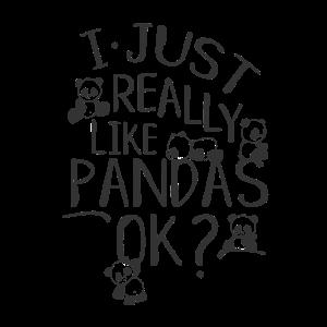 Ich liebe Pandas Kawaii Baby Pandabär Zeichnungen
