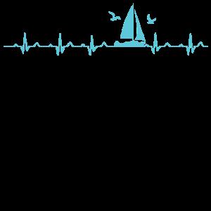 Sailing Heartbeat | Geschenk Segeln Herzschlag