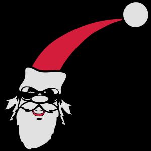 Weihnachtsmann kiffen joint sonnenbrille