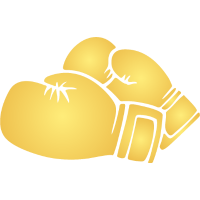 boxing gloves, Boxhandschuhe gold