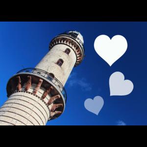 Mousepad Leuchtturm mit Herzen