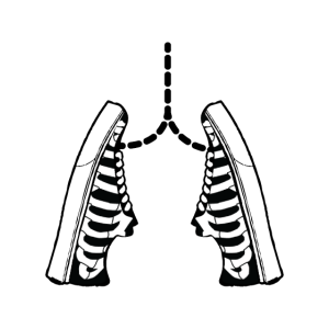 Lunge Schuhe Rippen Symbol Skelett Geschenk