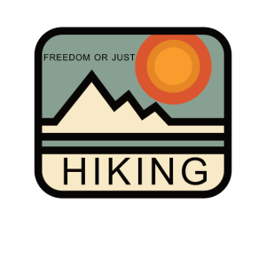 Freiheit oder nur Wandern Logo Berge