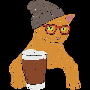 Hipster Kater Katze