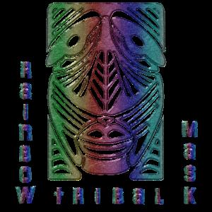 Regenbogen-Stammes-Maske