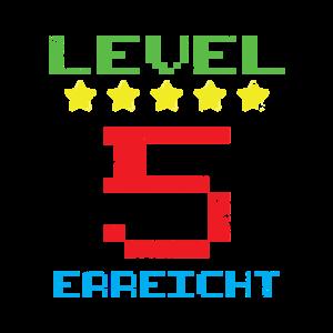 Nerd 5. Geburtstag Videospiele Level
